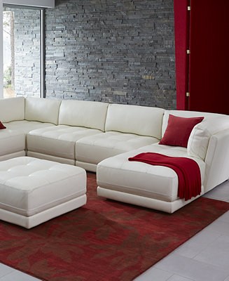 Traverso leather modular living room collection for Modular living room furniture