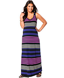 Motherhood Maternity Sleeveless Striped Maxi Dress