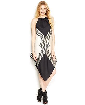 Rachel Rachel Roy Square Print Halter Neck Scarf Dress