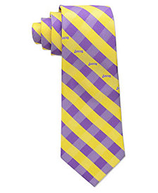 Eagles Wings Los Angeles Lakers Checked Tie