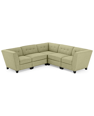 Harper fabric 5 piece modular sectional sofa custom for Harper fabric modular sectional sofa 6 piece