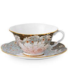 Wedgwood Daisy Tea Story Teacup and Saucer Set Blue