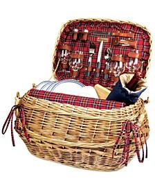 Red Highlander Picnic Basket
