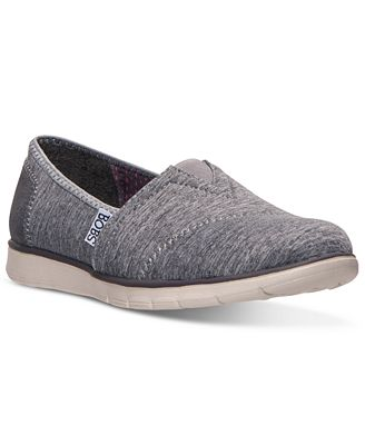 Newest Womens Shoes Grey Skechers Bobs Heathers Flats Shoes