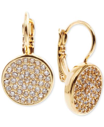 Anne Klein Crystal Pavé Disc Drop Earrings