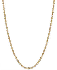 Rope Chain Necklace in 14k Gold (1-3/4mm)
