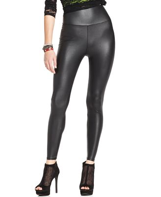 Material Girl High Waisted Pleather Legging - Juniors Leggings ...