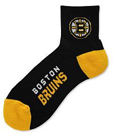 For Bare Feet Boston Bruins Ankle Socks