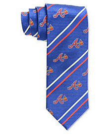 Eagles Wings Atlanta Braves Striped Tie