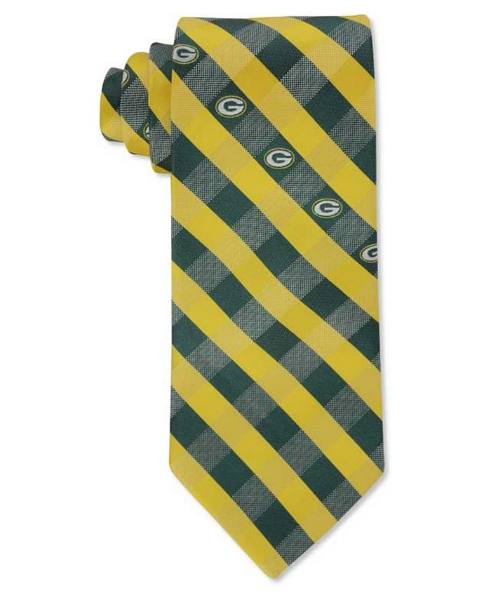 Eagles Wings - Green Bay Packers Checked Tie