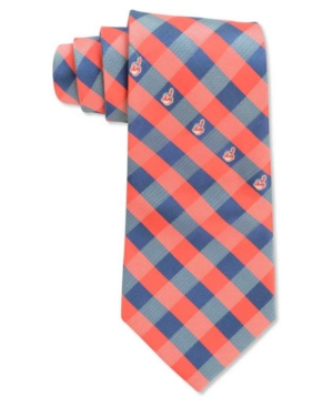 Cleveland Indians Checked Tie