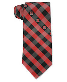 Eagles Wings Rutgers Scarlet Knights Checked Tie