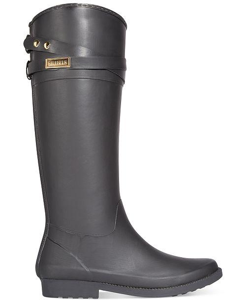 8d235f4161990f Tommy Hilfiger Women s Coree Tall Rain Boots   Reviews - Boots ...