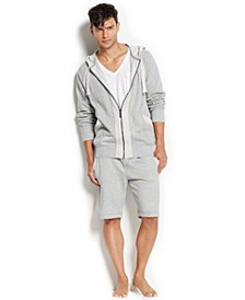 Men's Loungewear, Terry Full-Zip Hoodie, Cargo Pocket T-Shirt and Terry Shorts