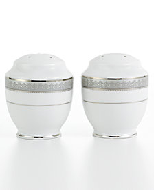 Mikasa Dinnerware, Platinum Crown Salt and Pepper Shakers
