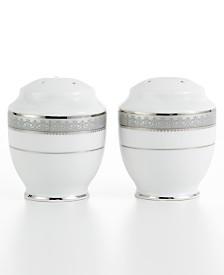 Mikasa Dinnerware, Platinum Crown Salt and Pepper Shakers