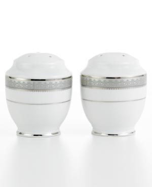 Mikasa Dinnerware Platinum Crown Salt and Pepper Shakers