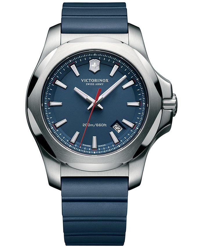 Victorinox Swiss Army - Men's I.N.O.X. Blue Rubber Strap Watch 43mm 241688.1