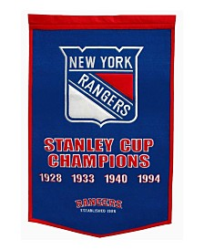 Winning Streak New York Rangers Dynasty Banner