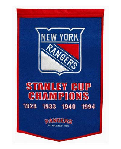 Winning Streak New York Rangers Dynasty Banner