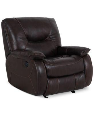 Dante Leather Power Recliner  sc 1 st  Macy\u0027s & Dante Leather Power Recliner - Furniture - Macy\u0027s islam-shia.org