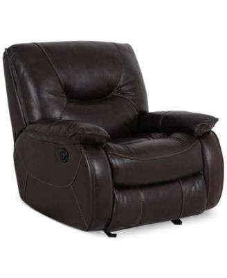 Dante Leather Power Recliner  sc 1 st  Macyu0027s & Dante Leather Power Recliner - Furniture - Macyu0027s islam-shia.org