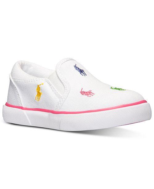 8dafbfce86 Polo Ralph Lauren Baby Girls' Bal Harbour Repeat Layette Slip-On ...