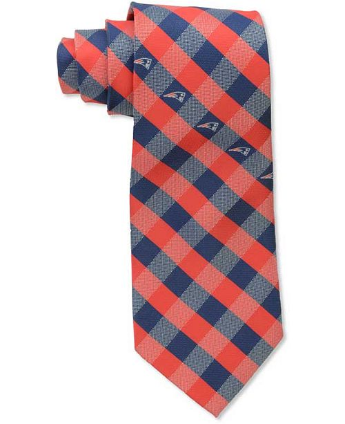 Eagles Wings New England Patriots Checked Tie