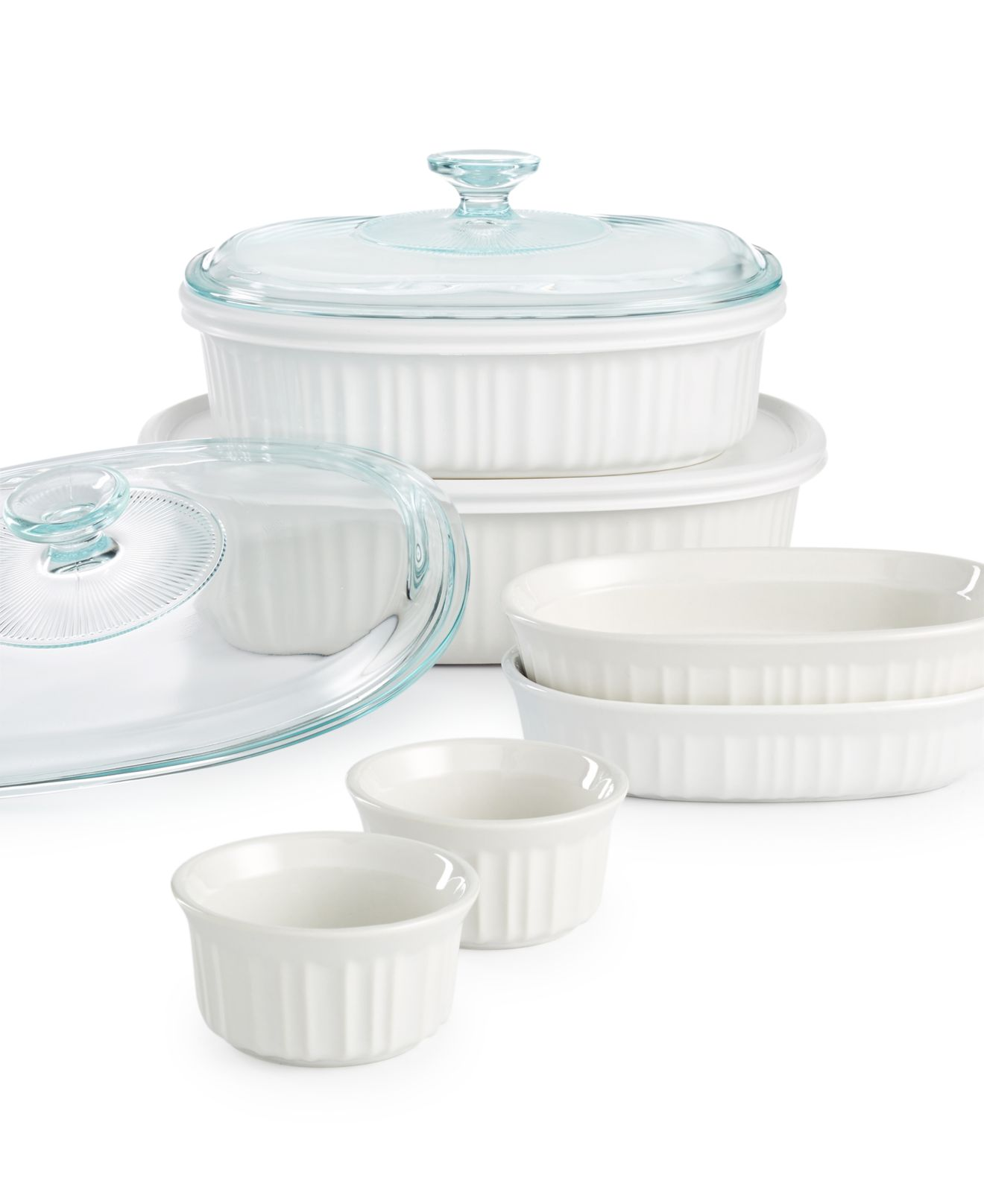 Corningware French White 10-Pc. Bakeware Set - $29.99 w/ FS @ Macy's online deal