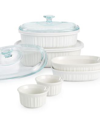 Corningware French White 10-Pc. Bakeware Set Created for Macyu0027s - Bakeware - Kitchen - Macyu0027s  sc 1 st  Macyu0027s & Corningware French White 10-Pc. Bakeware Set Created for Macyu0027s ...