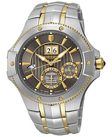 Seiko Men's Coutura Kinetic Perpetual Calendar Two-Tone Stainless Steel Bracelet Watch 42mm SNP108