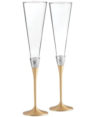 With Love Gold Toasting Flute Pair