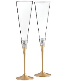 Vera Wang Wedgwood With Love Gold Toasting Flute Pair