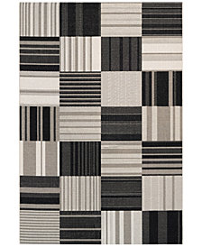 "Couristan Indoor/Outdoor Afuera 5038/6031 Patchwork 9'2"" x 12'5"" Area Rug,"
