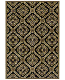 Couristan Indoor/Outdoor Area Rugs, Dolce 4075/0195 Napoli Black-Gold