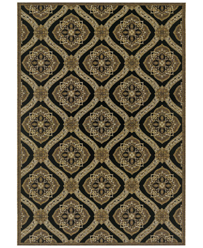 Couristan Indoor/Outdoor Area Rug, Dolce 4075/0195 Napoli Black-Gold 2'3