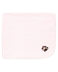 Baby Girls Pretty Monkey Blanket