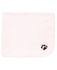 Little Me Baby Girls Pretty Monkey Blanket