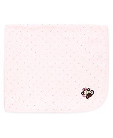 Little Me Baby Girls Pretty Monkey Blanket