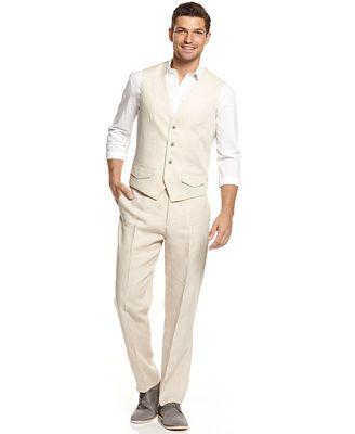 Tasso Elba Linen Vest & Pants - Men - Macy's