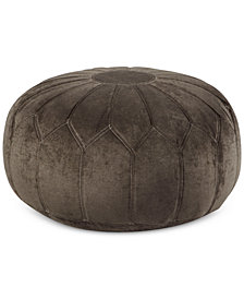 Elise Fabric Accent Pouf, Quick Ship