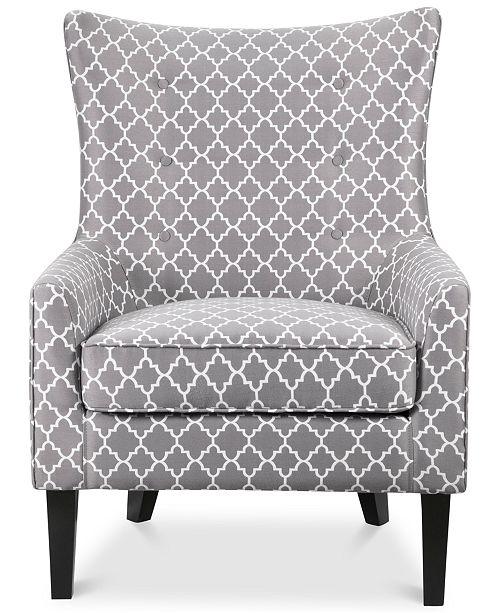 Tremendous Brie Printed Fabric Accent Chair Quick Ship Inzonedesignstudio Interior Chair Design Inzonedesignstudiocom