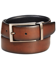 Ryan Seacrest Distinction Tuscan Leather Reversible Belt