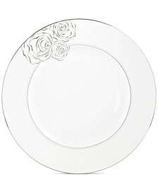 Monique Lhuillier Waterford Dinnerware, Sunday Rose Dinner Plate
