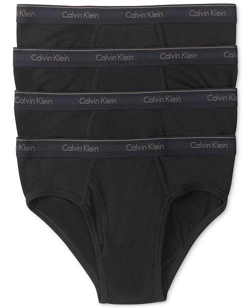 cc55c8b3b4bc Calvin Klein Men's Classic Cotton Low-Rise Hip Briefs 4-Pack U4183 ...