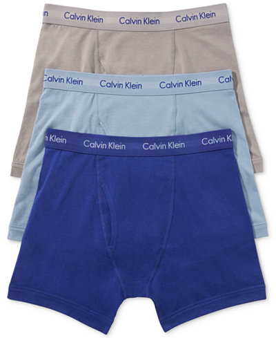 Calvin Klein Men's Cotton Stretch Boxer Briefs 3-Pack NU2666 ...