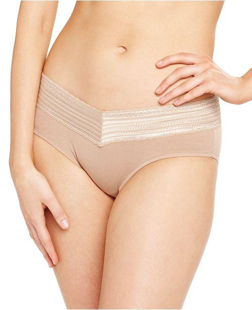 Warner's No Pinches No Problems Cotton Lace Hipster Underwear RU1091P