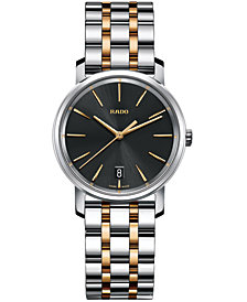 Rado Women's Swiss DiaMaster Two-Tone Stainless Steel Bracelet Watch 33mm R14089163