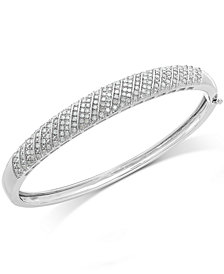 Diamond Multi-Row Bangle Bracelet in Sterling Silver (1 ct. t.w.)