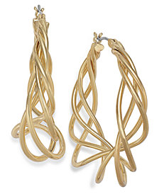 Charter Club Spiral Hoop Earrings